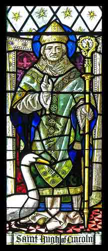 Picture of stained glass window - St Hugh of Lincoln